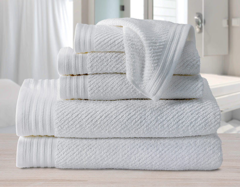 Diagonal Piqué Towel Set