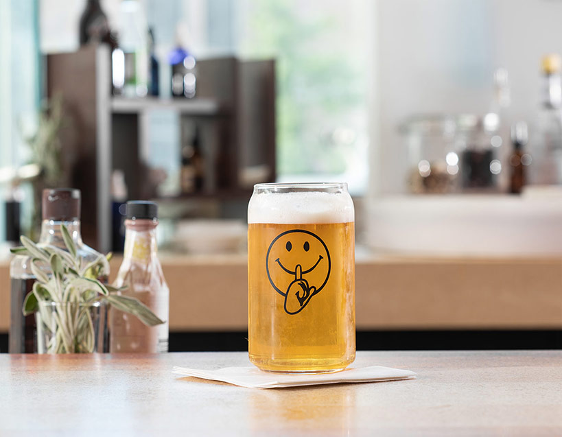 Smiley Face Beer Glass Set